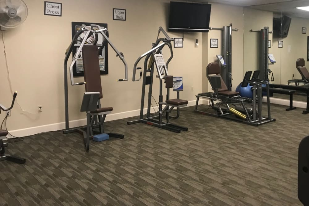 Fitness center at The Terraces in Chico, California