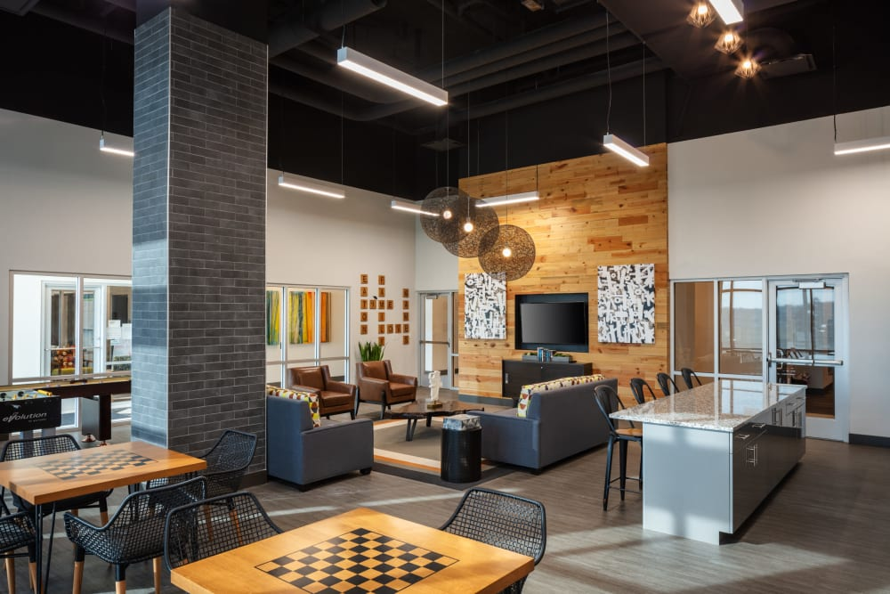 Beautiful clubhouse interiors at Eaton Street Apartments in Westminster, Colorado