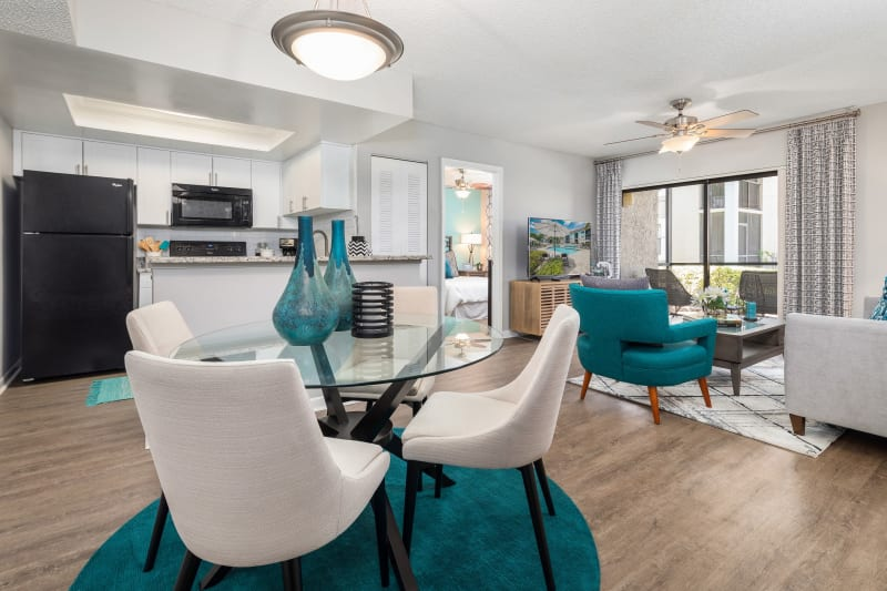 Open concept living room at The EnV in Hollywood, Florida