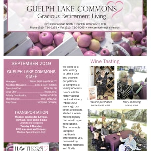 September Guelph Lake Commons Newsletter