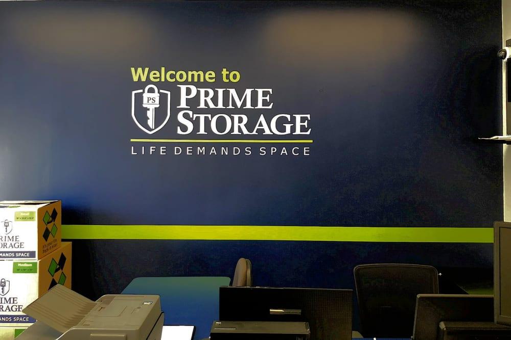 Front desk at Prime Storage in Marietta, Georgia