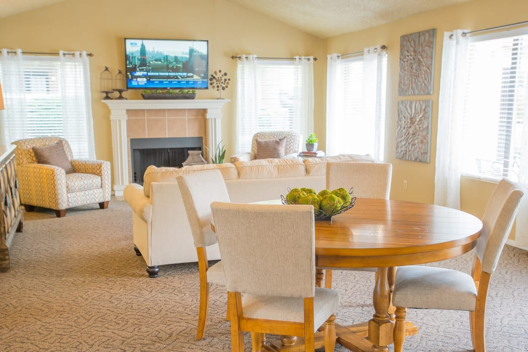 Inside the clubhouse at Cimarron Trails Apartments in Norman, OK