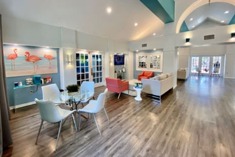 Clubhouse for residents at 1801 MetroWest in Orlando, Florida