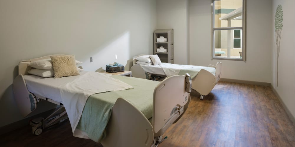Comfortable bed at Avenir Behavioral Health Center in Surprise, Arizona