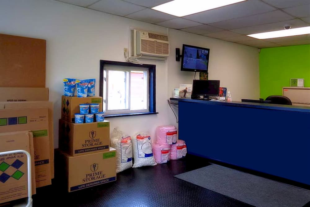Lobby at Prime Storage in Fairless Hills, PA