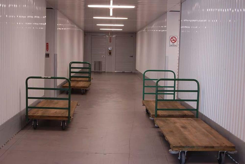 Free carts at Superior Self Storage in Rancho Cordova, California