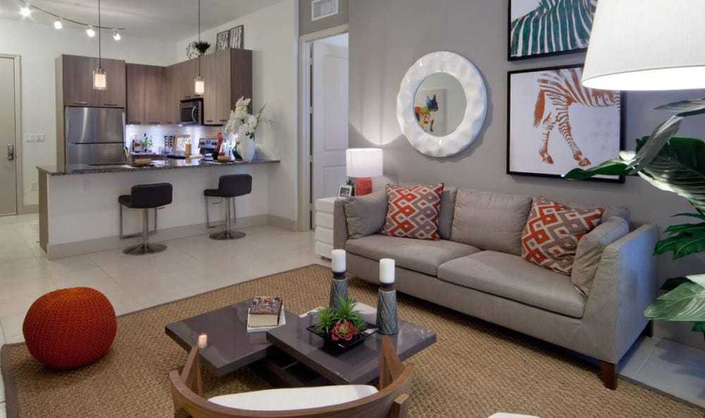 Modern Dining and Living Room At Berkshire Coral Gables In Miami FL
