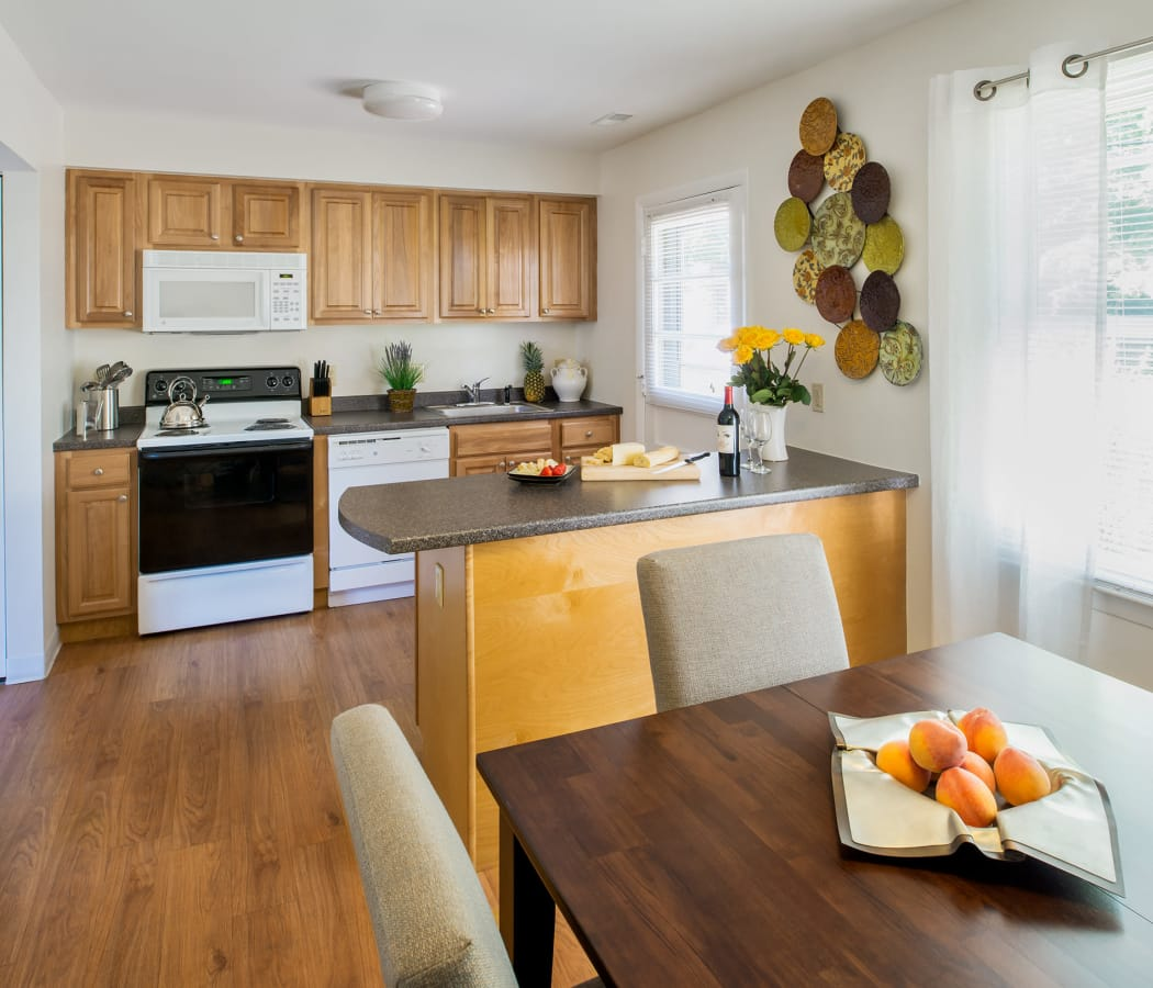 Stunning kitchen at Stony Brook Commons in Roslindale, Massachusetts