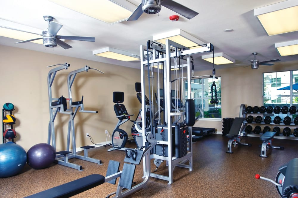 Fitness center at Crescent Club in New Orleans, Louisiana