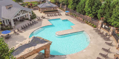 Swimming pool at apartments in Burlington, North Carolina