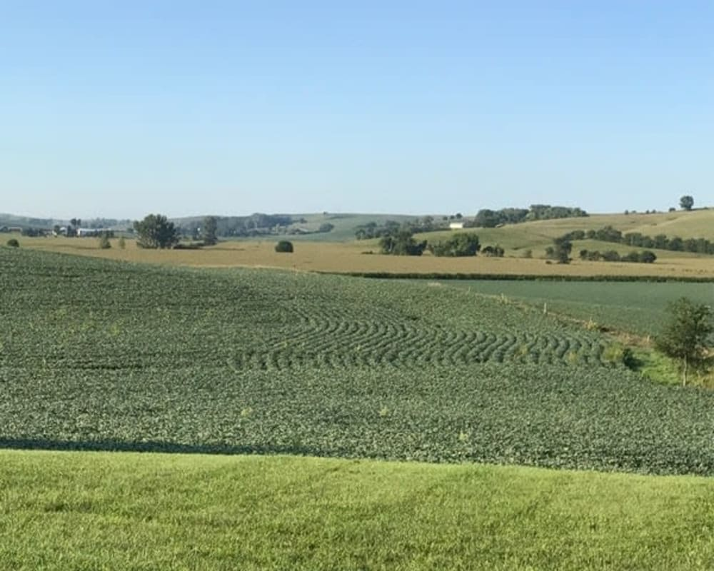 Sweeping views of the countryside at Lawton Senior Living in Lawton, Iowa.