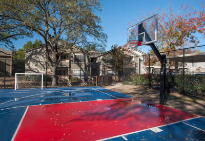 Onsite basketball court at Slate Creek Apartments in Roseville, California