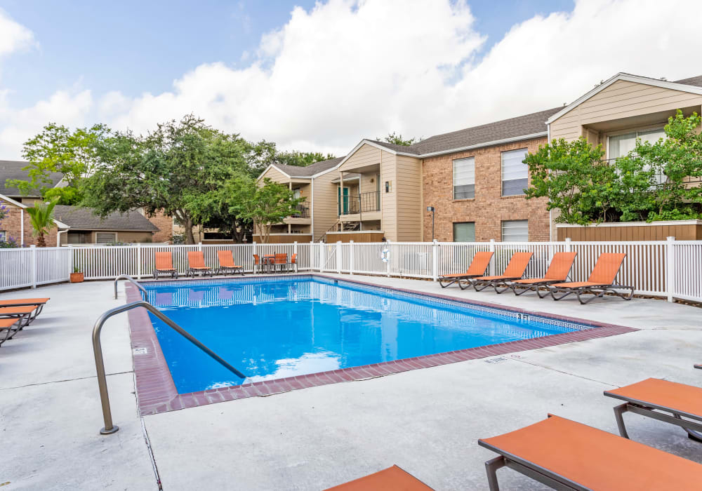 pool view at Riverstone Apartments in Bryan, Texas