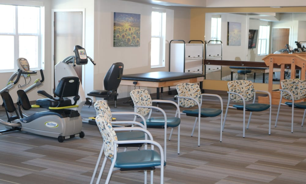Fitness center at The Sanctuary at Brooklyn Center in Brooklyn Center, Minnesota