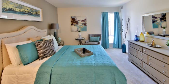 Beautiful bedroom at apartments in Randallstown, Maryland