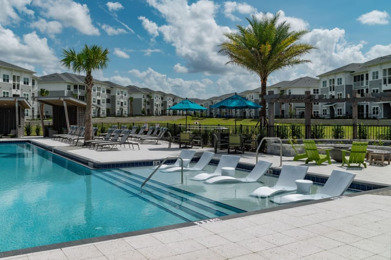 Clear blue pool at Reunion at 400 in Kissimmee, Florida