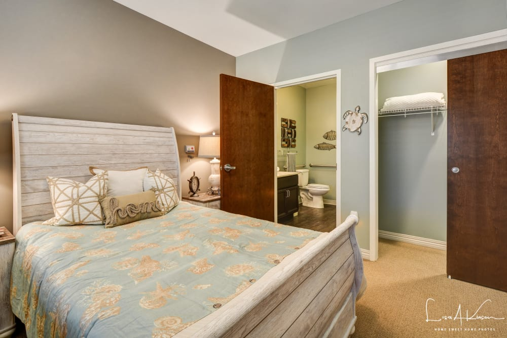 Bedroom at Arcadia Senior Living Clarksville in Clarksville, TN