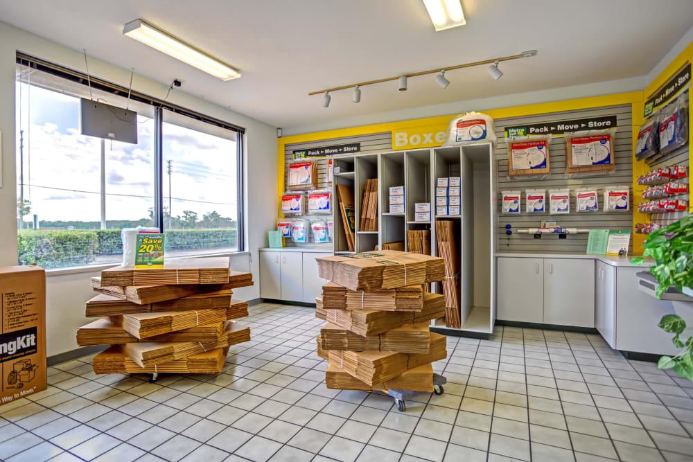 Packaging supplies at Metro Self Storage in Wesley Chapel, Florida