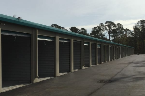 Large storage facility area for Boats and RVs at Cardinal Self Storage - Wilmington in Wilmington, North Carolina