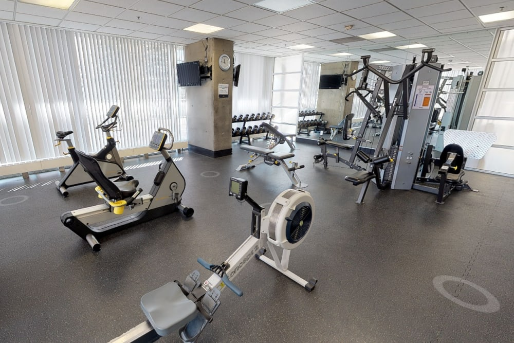 Fitness center at The Mansions in Calgary, Alberta