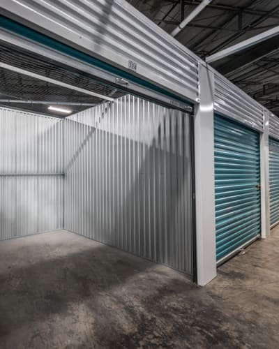 Interior of storage unit at Riverfront Self Storage in New Orleans, Louisiana