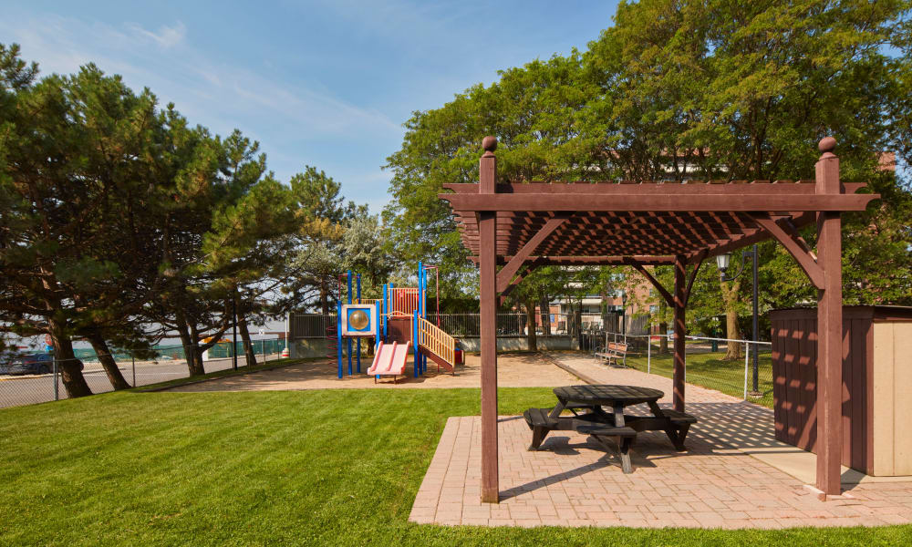 Playground and gazebo at Richmond Hill Apartments in Richmond Hill, Ontario