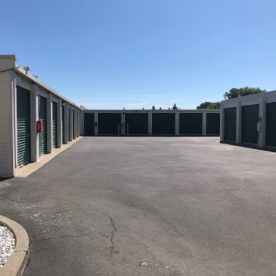 Outdoor ground floor units at Storage Star Vacaville in Vacaville, California