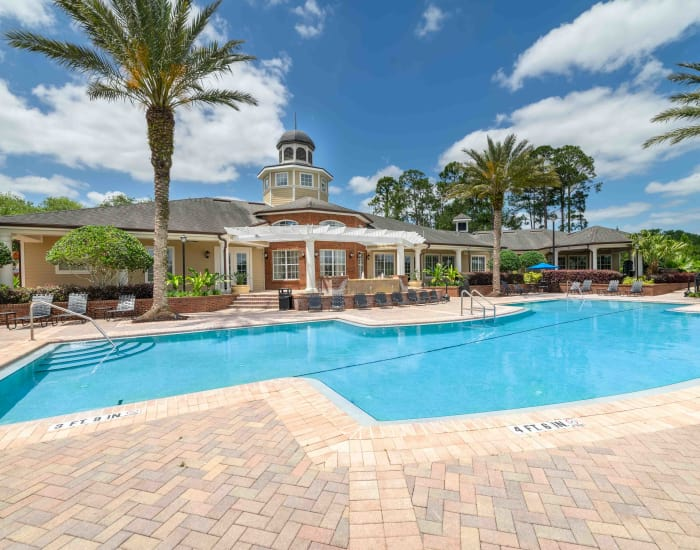 Pool view at Integra Landings in Orange City, Florida
