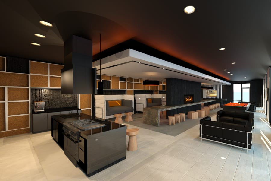 Sleek luxury clubhouse at The TOMSCOT in Scottsdale, Arizona