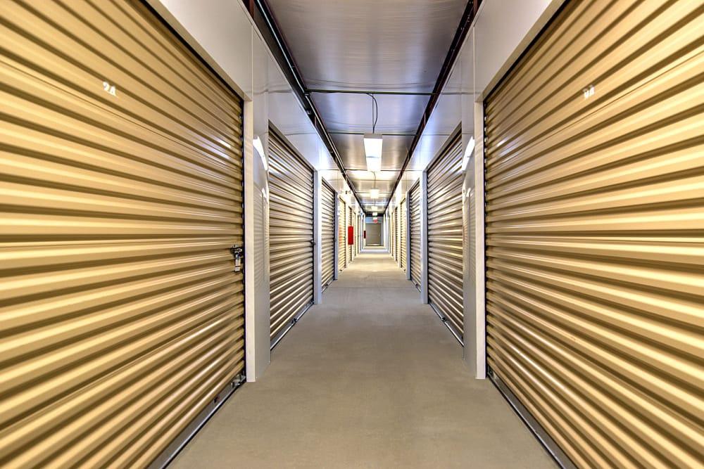 Interior hallway units at Prime Storage in Acworth, Georgia