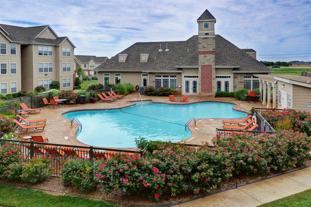 Spacious swimming pool at Colonies at Hillside in Amarillo, Texas