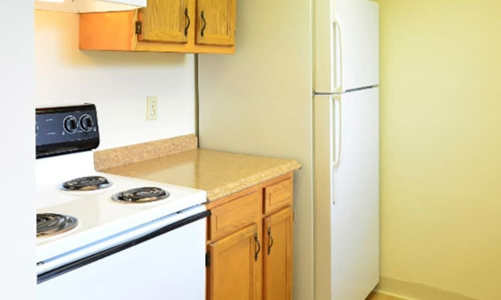 Fully-equipped kitchen at Lafeuille Apartments in Cincinnati, Ohio