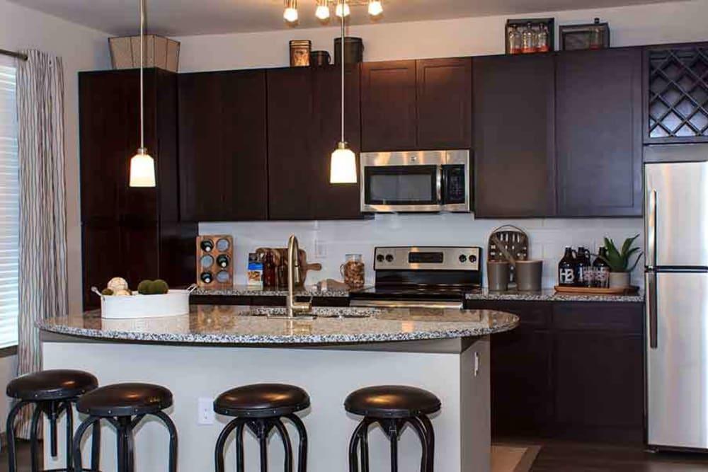 Beautiful Kitchen Island At Brookson Resident Flats