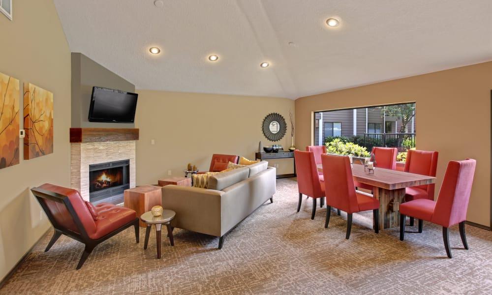 Living room at Jasper Square Apartment Homes in Beaverton, Oregon