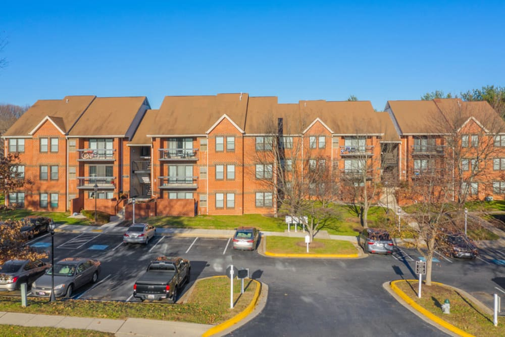 Parking at Tamarron Apartment Homes in Olney, Maryland