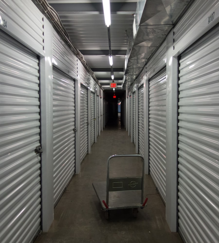 Indoor storage at D Street Storage in Salem, Oregon