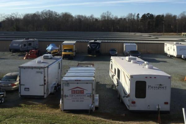 Boat and RV storage at Cardinal Self Storage - Graham in Graham, North Carolina