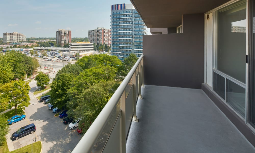 Lovely balcony views available at Richmond Hill Apartments in Richmond Hill, Ontario