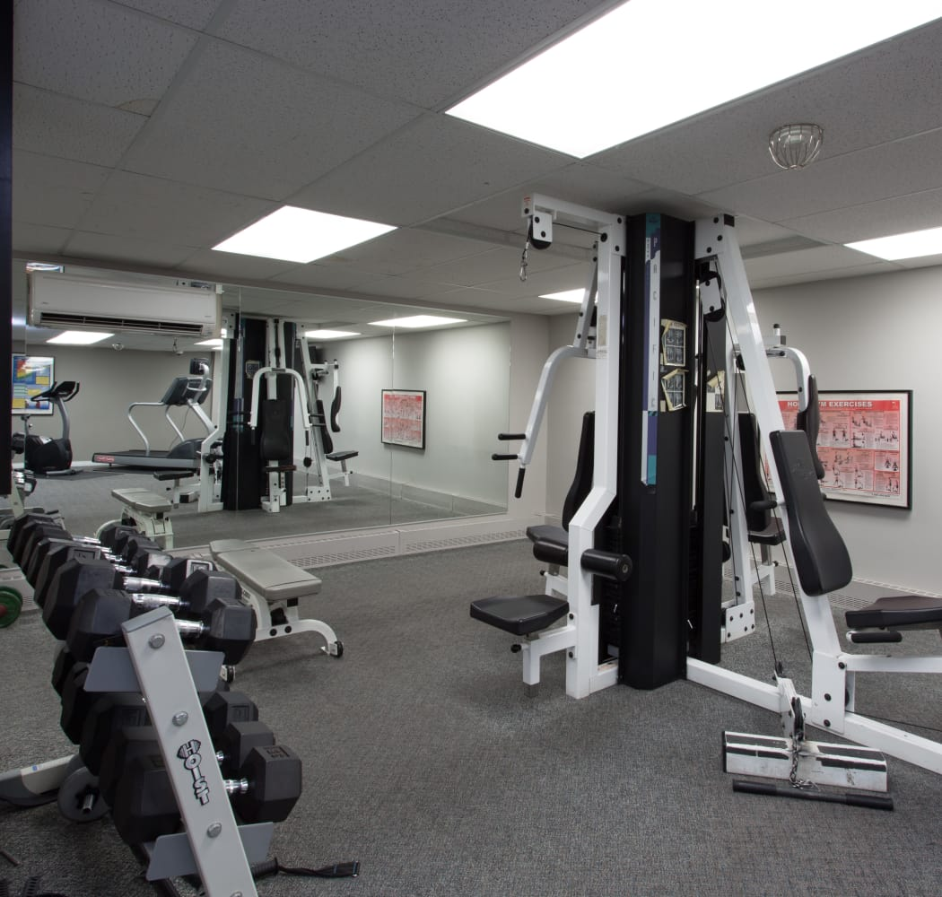 Fitness area at Royal View Apartments in Calgary