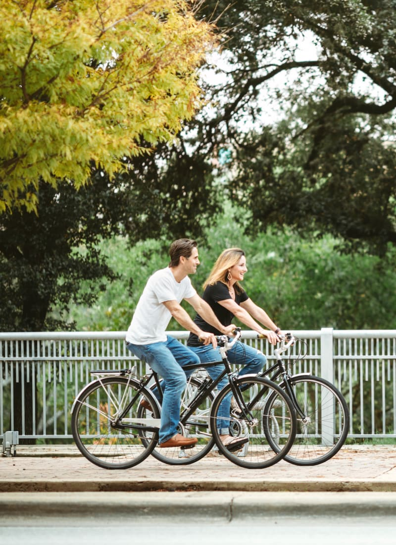 Residents riding their bikes near Mooresville, North Carolina from Marquis at Morrison Plantation