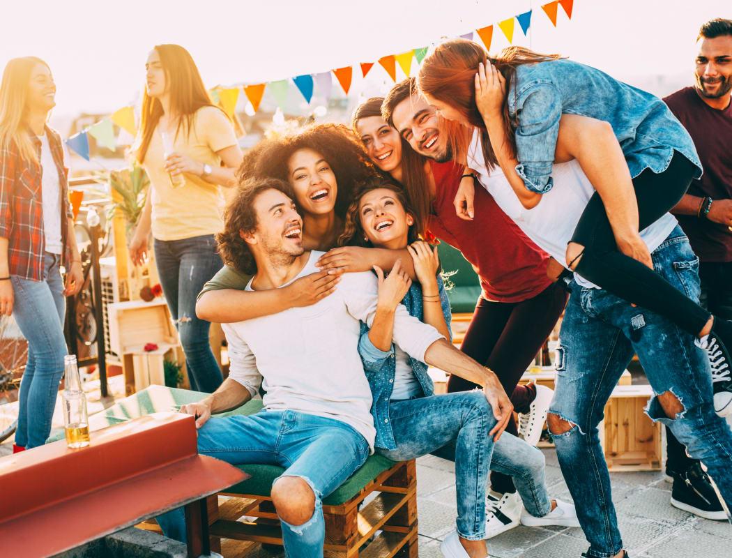People having fun at Taunton Gardens in Taunton, Massachusetts