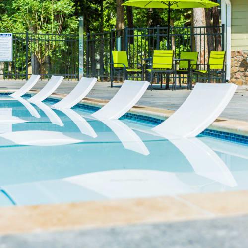 Swimming pool at The Overlook Sandy Springs in Atlanta, Georgia