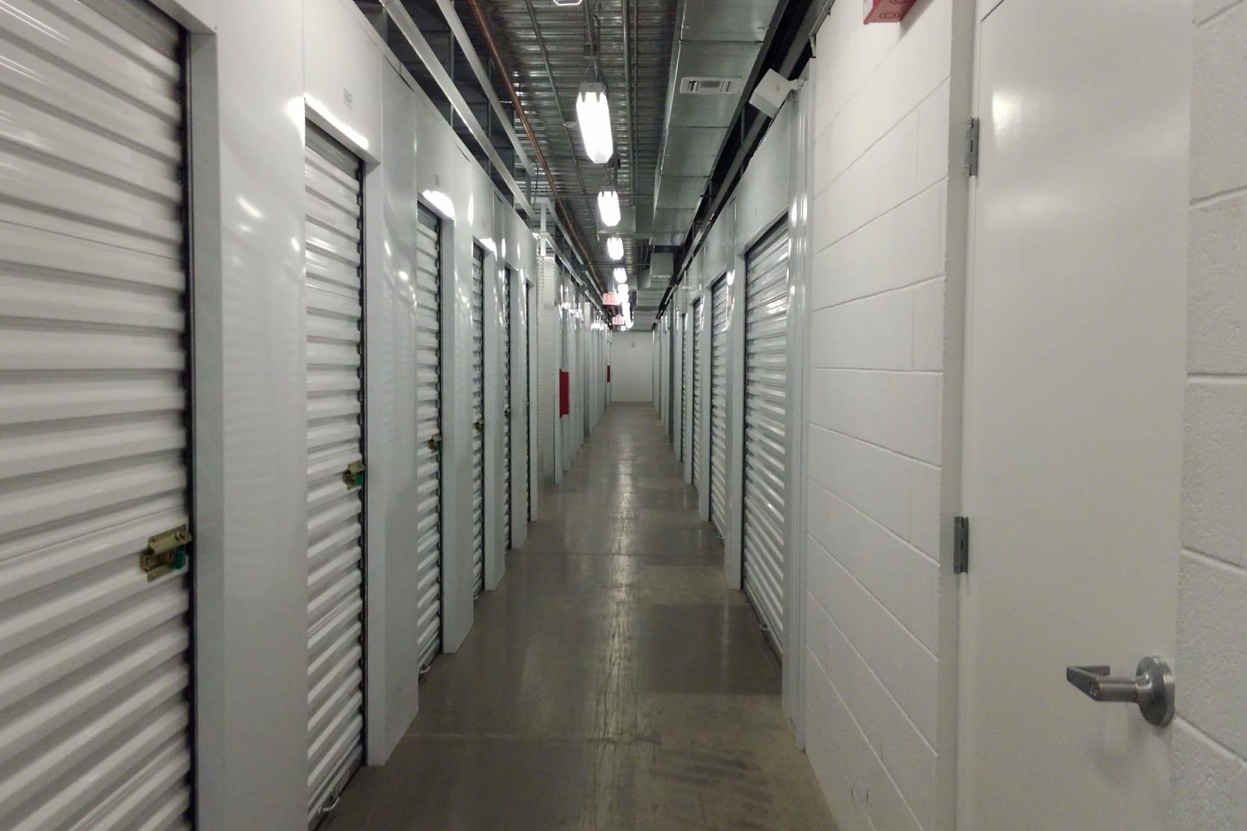 Hallway of units at StorQuest Self Storage in Chandler, Arizona