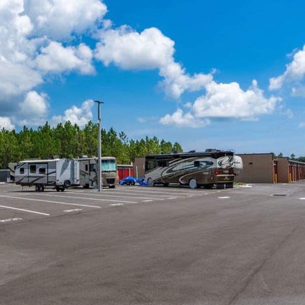 RVs parked at StorQuest Express - Self Service Storage in Palm Coast, Florida