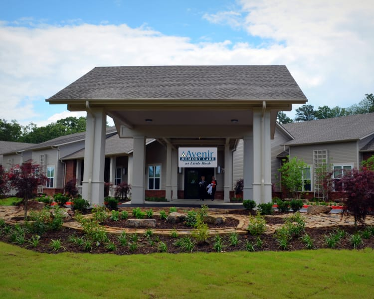 Front entrance to Avenir Memory Care at Little Rock in Little Rock, AR