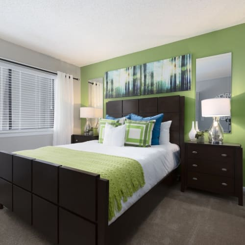 View virtual tour for 2 bedroom 2 bathroom unit at Enclave at Lake Ellenor in Orlando, Florida