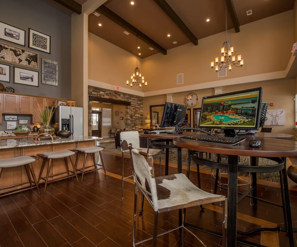 Computer room at Scissortail Crossing Apartments in Broken Arrow, Oklahoma