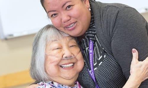 Volunteers at Nikkei Manor in Seattle, WA
