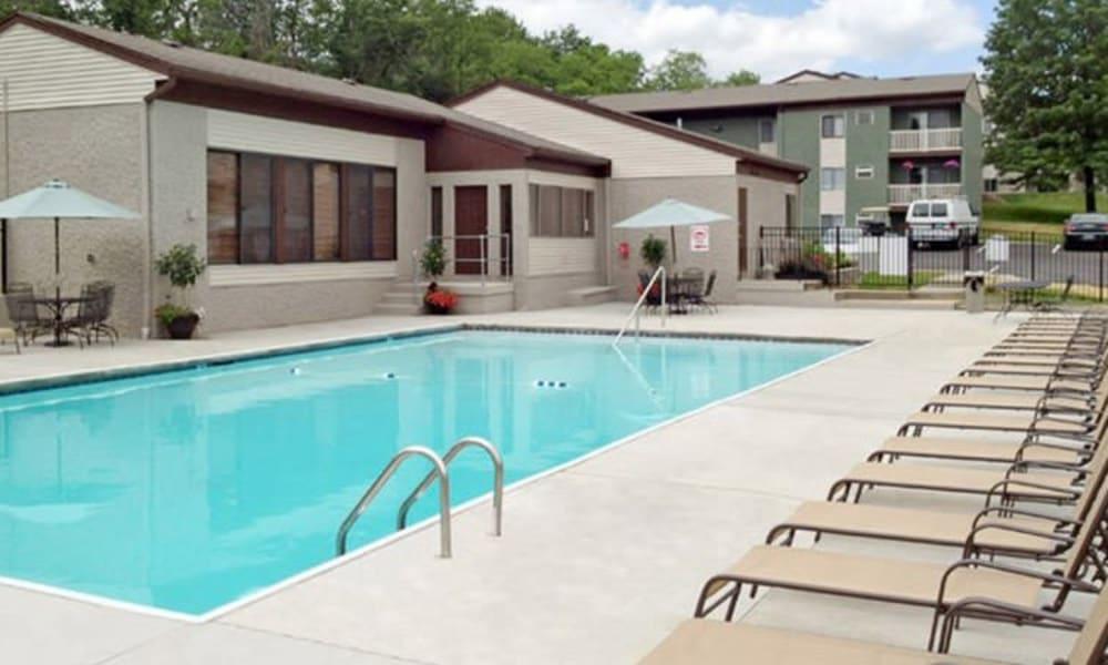 Sparkling pool at Lakeside Landing Apartments in Lakeside Park, Kentucky