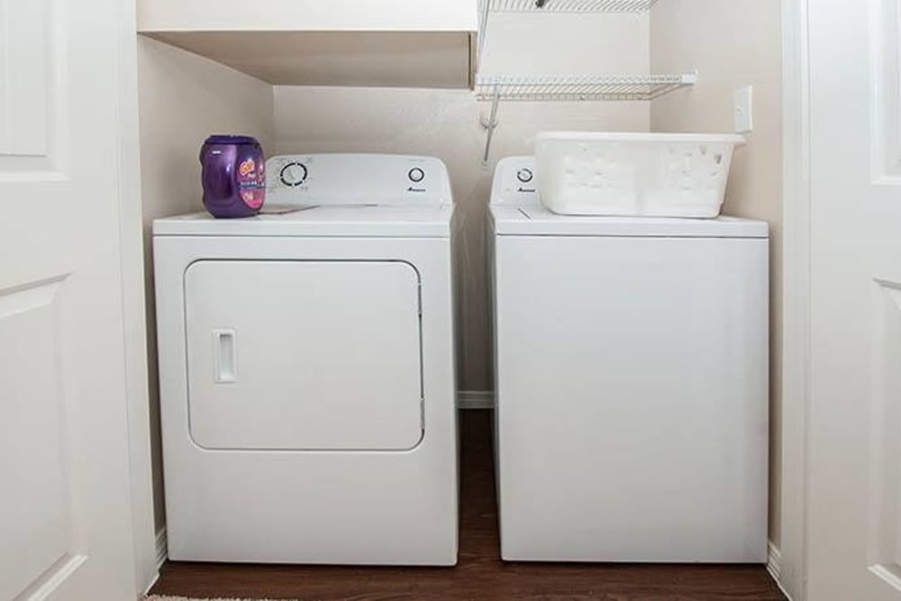 Washer and dryer at Carrington Oaks in Buda, Texas